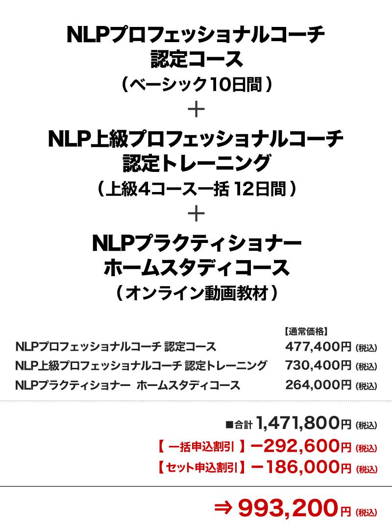 価格 NLPプロフェッショナルコーチ認定コース+NLP上級プロフェッショナルコーチ認定コース+NLPプラクティショナー ホームスタディコース